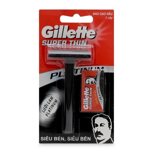 Dao cạo râu Super Thin lưỡi Platinum siêu bén giá rẻ