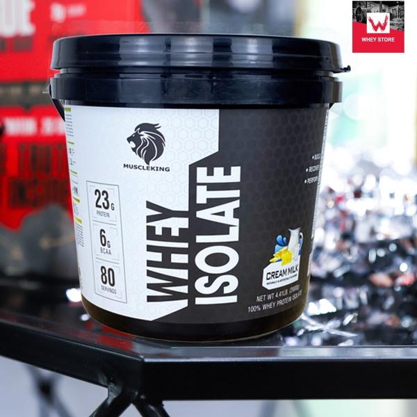 [HCM]( Tặng Shaker) Whey Protein Isolate Muscleking 2Kg - 80 serving - SỮA TĂNG CƠ HẤP THỤ NHANH - TĂNG CƠ GIẢM MỠ cao cấp
