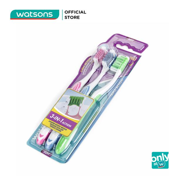Bàn Chải Đánh Răng 3 Tác Động Watsons (Mềm) 3Cây giá rẻ