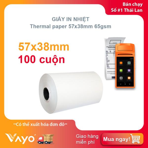 Mua Giấy in nhiệt K57, giấy in bill VAYO kích thước 57mm x 38mm 65gsm (100 cuộn)