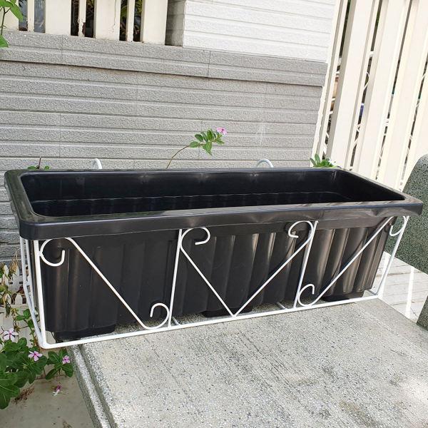 Bộ khung treo ban công trồng hoa, trồng rau dài (64cmx22cmx19cm), Phù hợp trồng hoa, trồng rau sạch trên ban công, sân thượng hoặc thiết kế nhà hàng, quán cafe