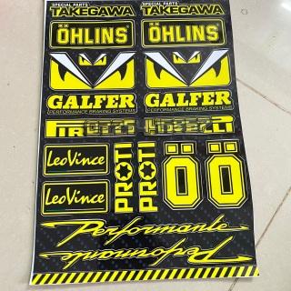 Combo sticker logo nhãn hiệu các loại xe máy màu vàng thumbnail