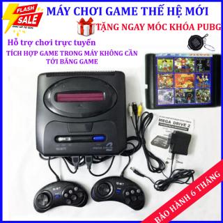 Máy chơi game điện tử cầm tay Sega Ganesis 3(16bit), máy chơi gamer 6 nút,máy game băng nhựa 3 tích hợp game trong máy+ Tặng móc khóa PUBG trị giá 50k thumbnail