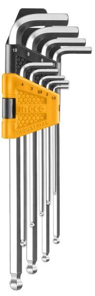 Bộ lục giác bi dài 9 chi tiết Ingco HHK12092