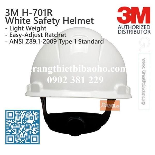 Nón bảo hộ 3M H701R màu trắng khóa vặn cao cấp