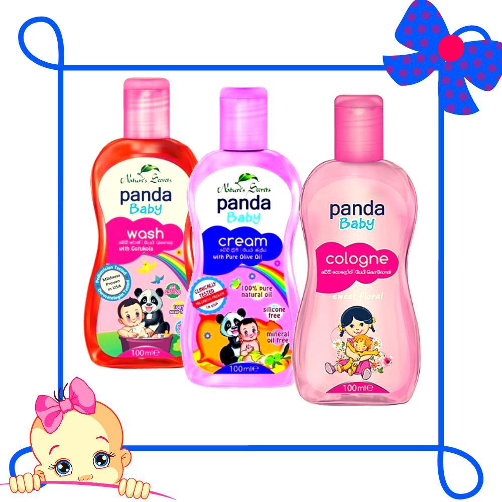 Bộ sản phẩm chăm sóc bé yêu Panda Baby (Nước hoa Sweet Floral - Sữa tắm - Kem dưỡng da)