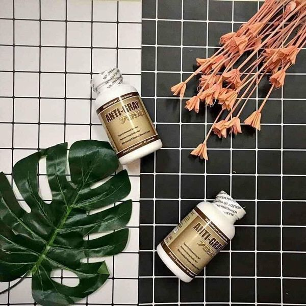 Viên uống trị tóc bạc sớm Super Anti Gray Hair 7050 của Mỹ giá rẻ