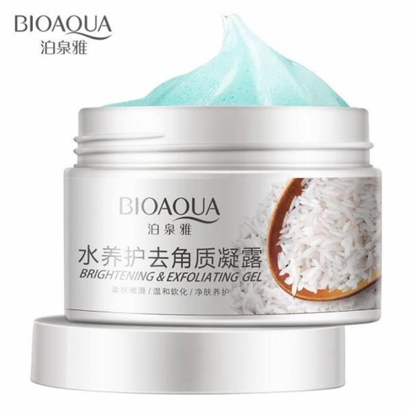 Kem tẩy da chết gạo làm sạch dưỡng trắng da Bioaqua 140g tốt nhất