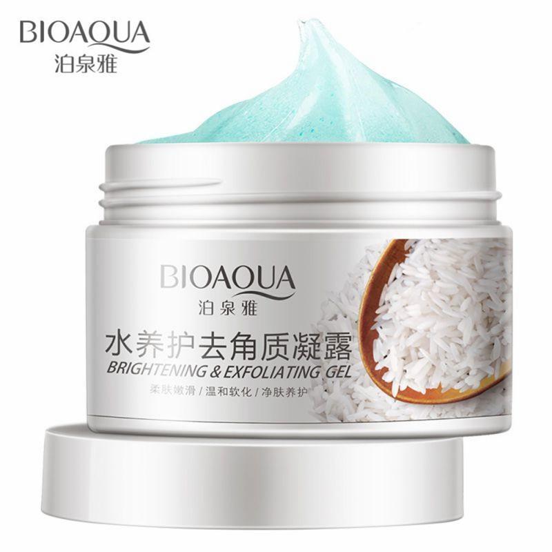 Kem tẩy da chết gạo làm sạch dưỡng trắng da Bioaqua 140g