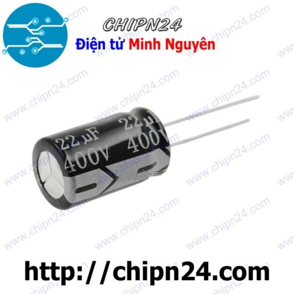 [5 CON] Tụ hóa 22uF 400V 13x21mm