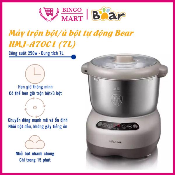 Máy Trộn Bột, Máy Nhồi Bột, Máy Nhào Bột Bear Cao Cấp Dung Tích 7L - Model HMJ- A70C1 - BH 1 năm - Bingo Mart