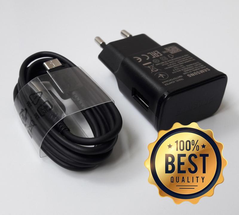 Giá Bộ sạc nhanh Samsung A70 (Cam kết hàng Zin - có hướng dẫn phân biệt) (Fast Charging) (Adaptor đen nhám + Cable chuẩn type C)