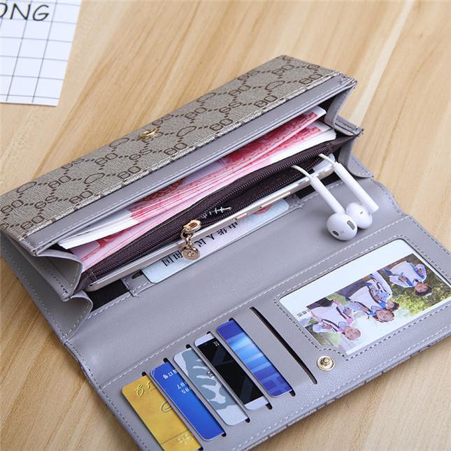 Ví nữ cầm tay thiết kế sang trọng, nhiều ngăn tiện dụng, chất liệu cao cấp LX0051