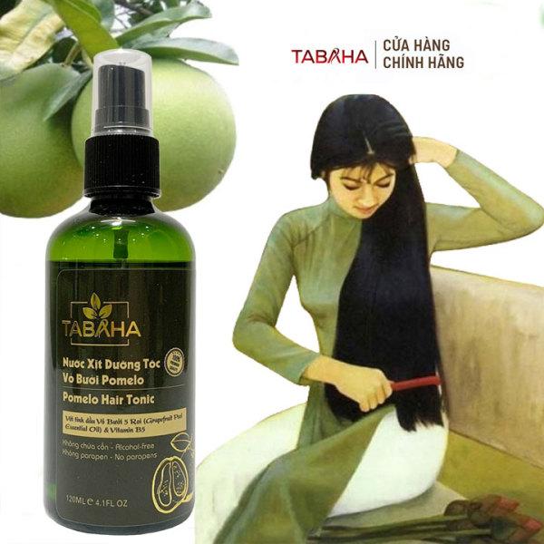 Xịt dưỡng tóc kích thích mọc tóc con tinh dầu bưởi Pomelo Tabaha 120ml