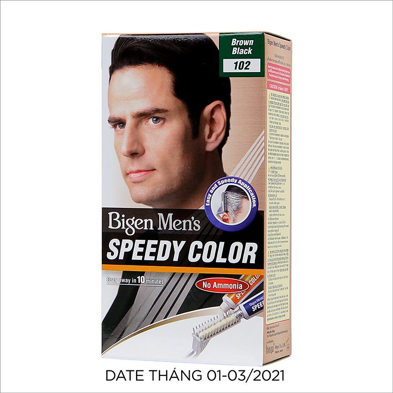 Thuốc Nhuộm Tóc phủ bạc dạng kem Cho Nam Giới Bigen Men's Speedy Color 80ml nhập khẩu