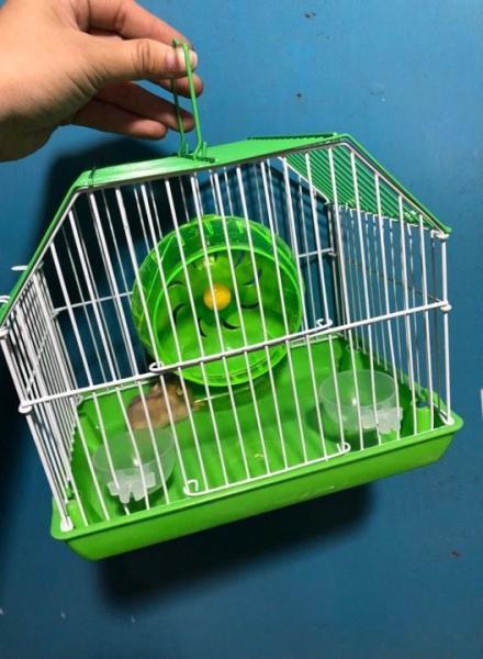 Lồng mini xách tay nhỏ gọn cho hamster,nhím,sóc,bọ ú ..