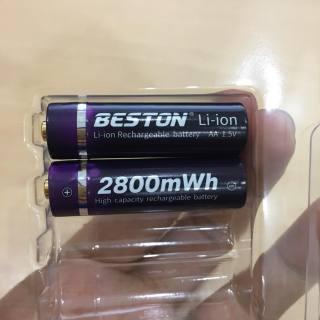 Bộ 2 Pin tiểu sạc AA Beston chính hãng 1.5V 2800mWh hàng cao cấp (không kèm sạc) thumbnail