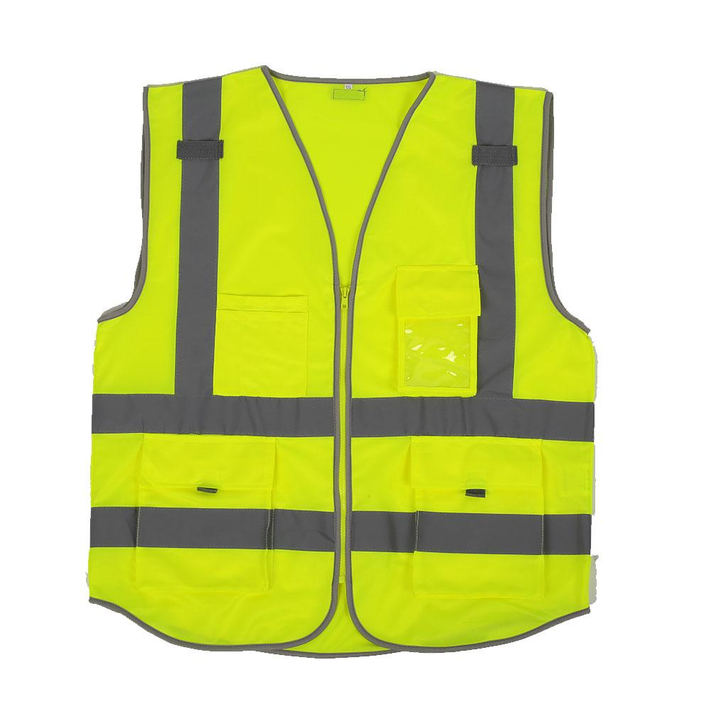 High Visibility Reflective Vest Clothes Cycling Outdoor Reflective Waistcoat XXL