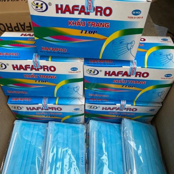 Khẩu Trang Y Tế 4 Lớp xanh  Hafapro Hộp 50 Cái