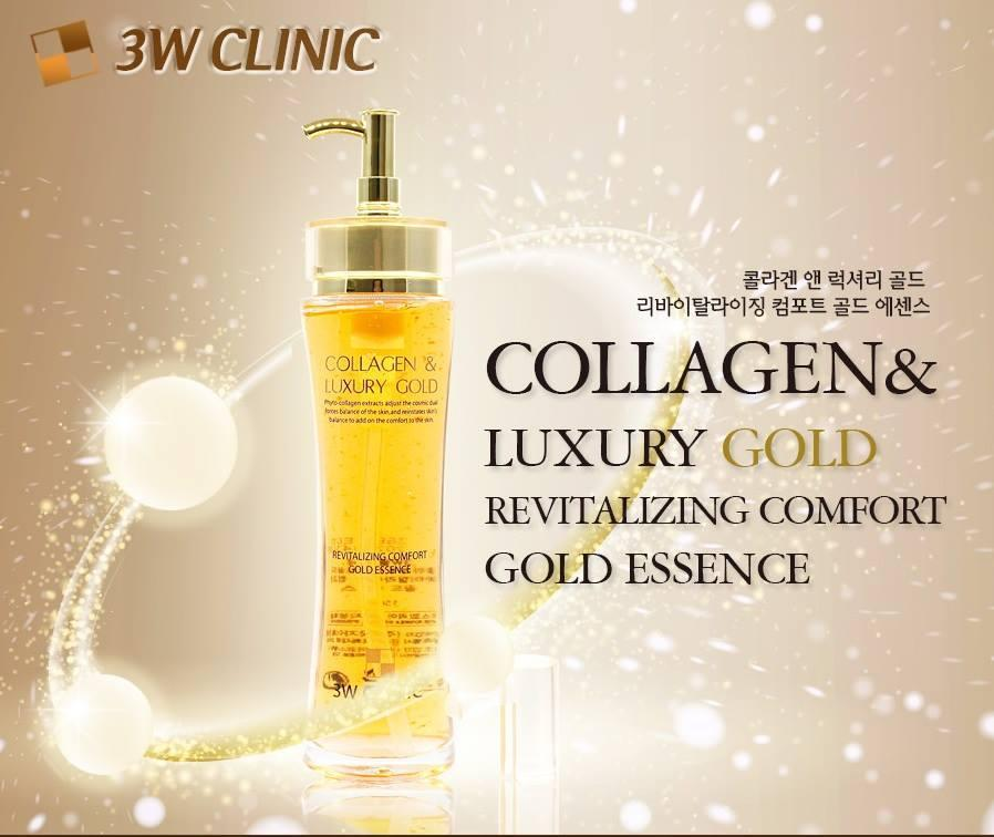Tinh Chất Dưỡng Da Collagen & Luxury Gold 3W Clinic