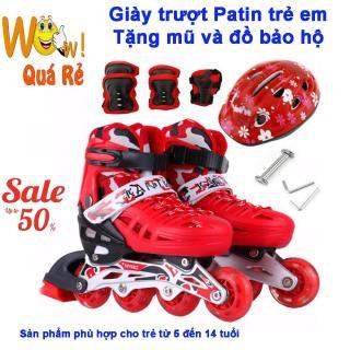 Giày Trượt Patin ,Giày Patin Trẻ Em Chống Trẹo Chân, Tặng Kèm Mũ Và Đồ Bảo Hộ. Mua Giày Trượt Patin Ở Đâu,Giay Batin 4 Banh Mua Giày Trượt Patin Cho Trẻ Em. thumbnail