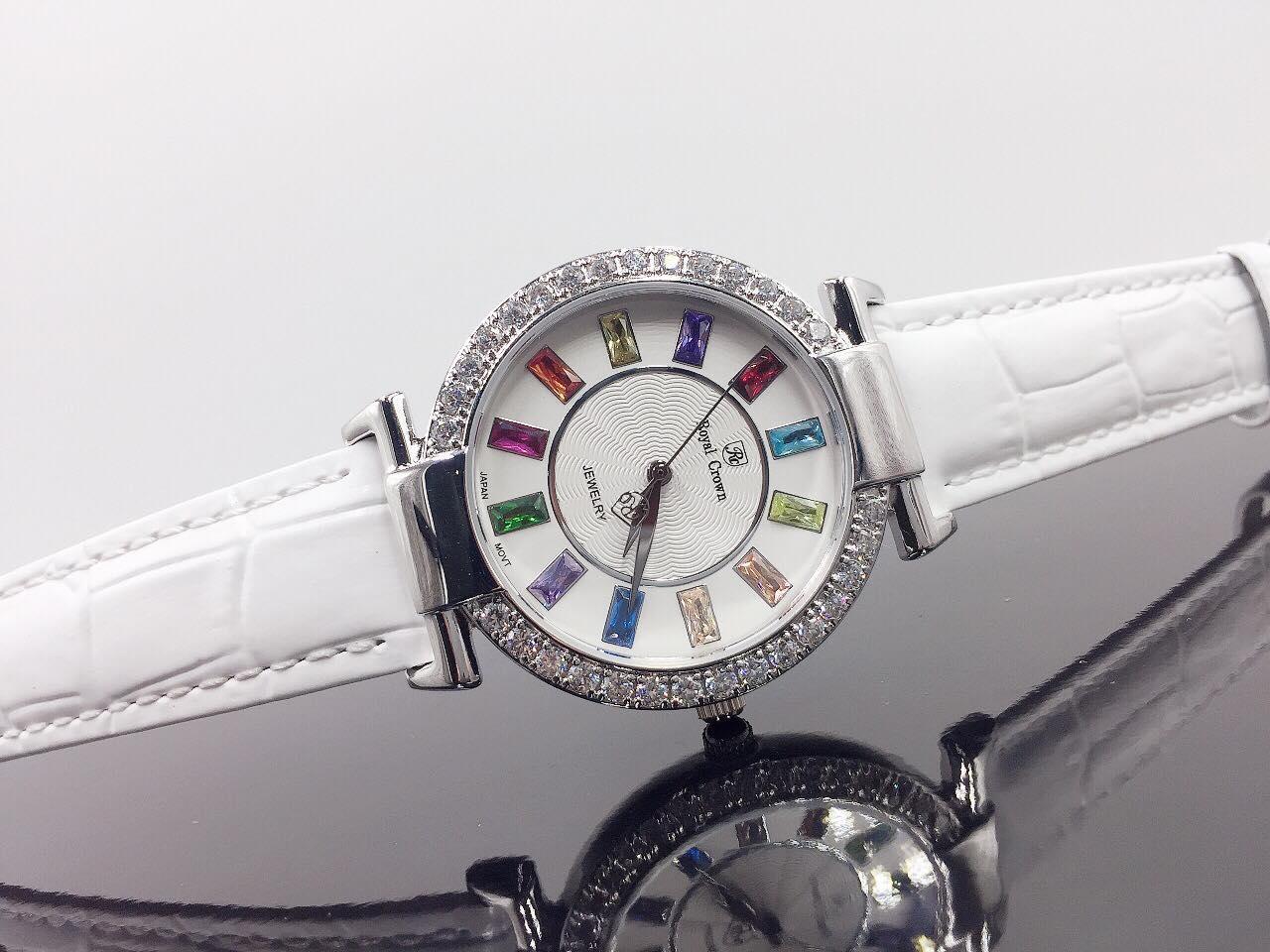 Đồng hồ nữ dây da Royal Crown Italy 4604 Hàng Cao Cấp bán chạy