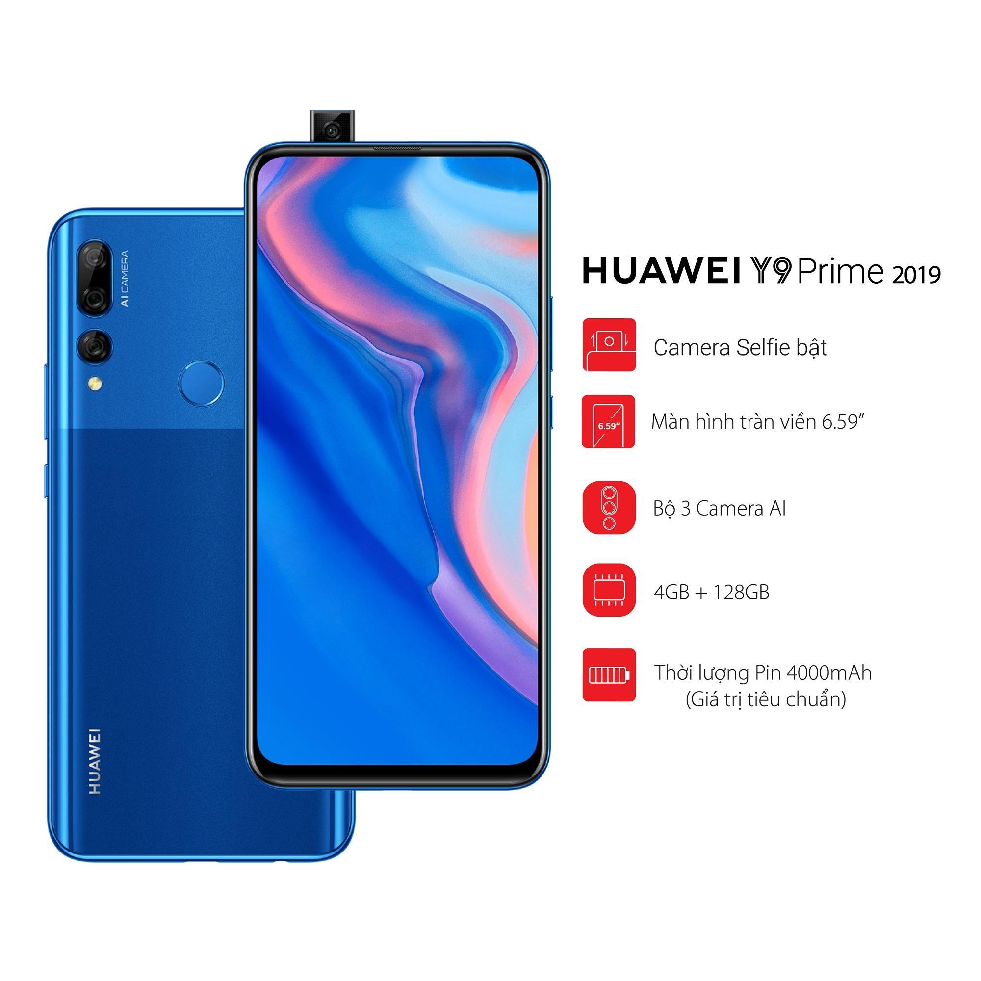 Điện Thoại Huawei Y9 Prime 2019 - 4GB RAM - 128GB ROM - Hãng phân phối chính thức