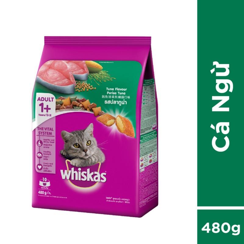Thức ăn mèo Whiskas vị cá ngừ túi 480g