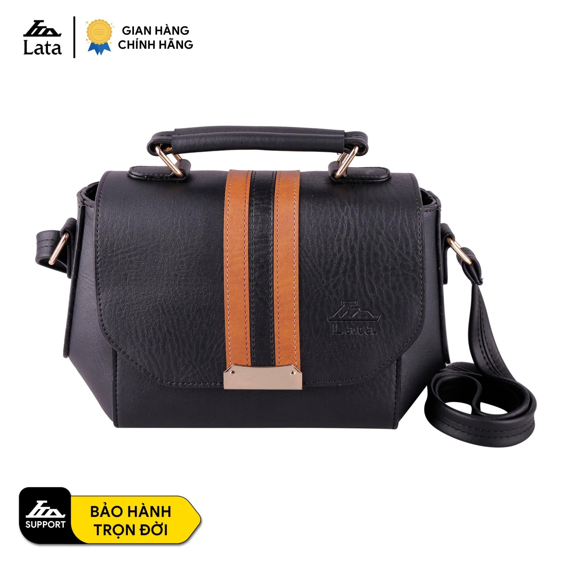 Túi đeo chéo nữ thời trang LATA HN58 da tổng hợp, không bong tróc và không thấm nước, lót nhung cao cấp, bảo hành trọn đời, kích thước 22x8x17cm
