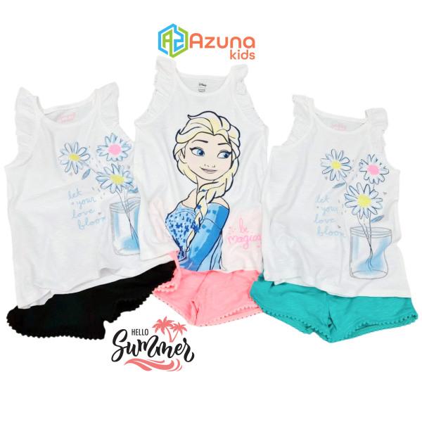 Giá bán Bộ quần áo cộc tay Azuna Jumping Bean's – áo thun cho bé gái (Quần giao mẫu ngẫu nhiên)