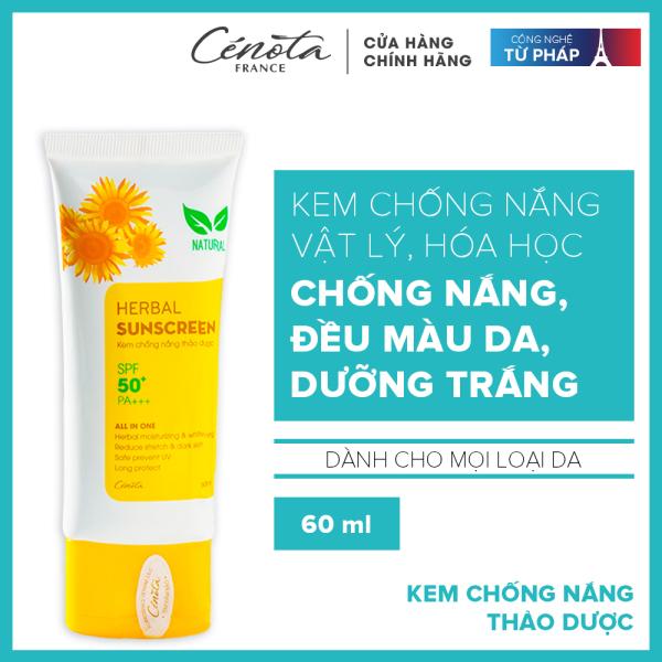 Kem chống nắng Hebal Sunscreen, kem chống nắng thảo dược Cénota SPF50+/PA+++ 60ml