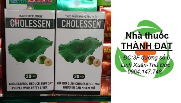 cholessen chiết suất từ lá sen giảm cholesterol máu, giảm gan nhiễm mỡ cholesen