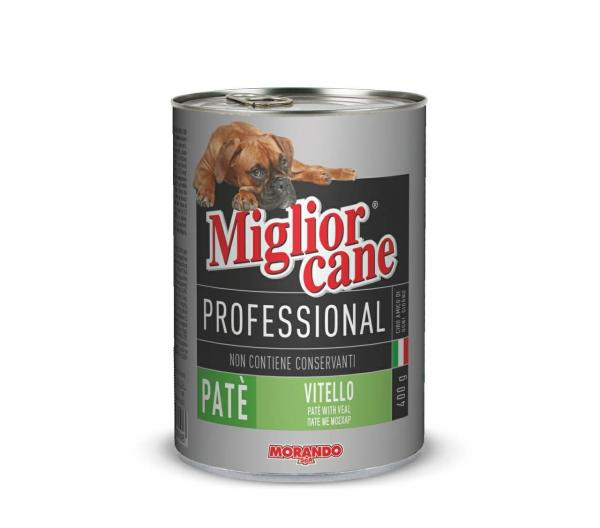 Pa tê thịt cho chó Migliorcane Professional Con vitello Morando 400g