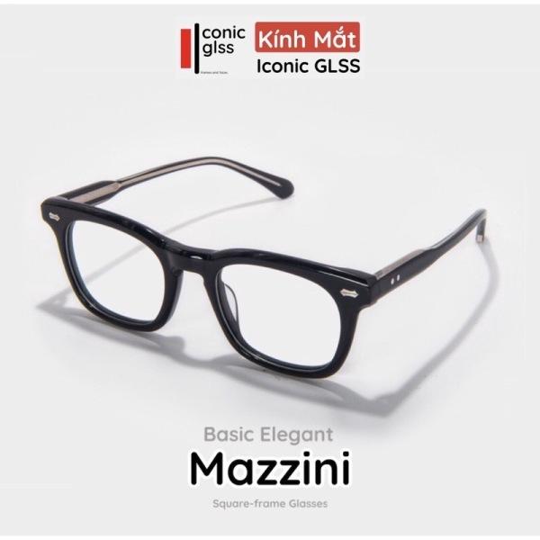 Mua Gọng kính cận vuông cao cấp MUZZINI nam nữ chất liệu acetate thân thiện lens giả cận thời trang hot trend 2021