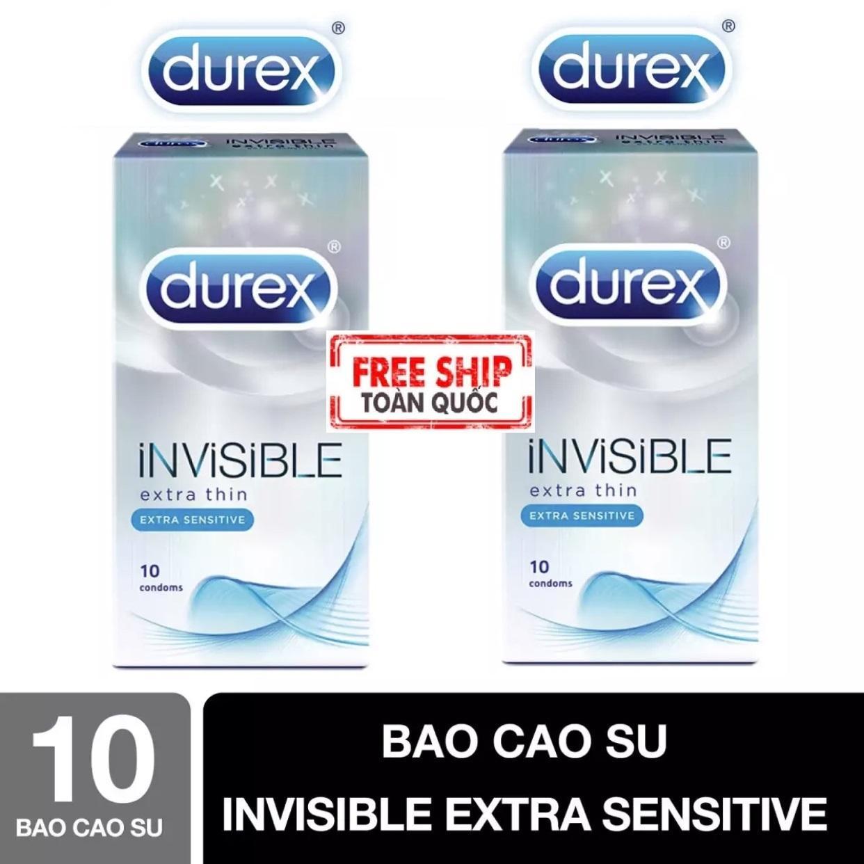[MUA 1 TẶNG 1] Bao Cao Su Durex Invisible Extra Thin siêu mỏng kéo dài thời gian quan hệ [che tên sản phẩm] nhập khẩu