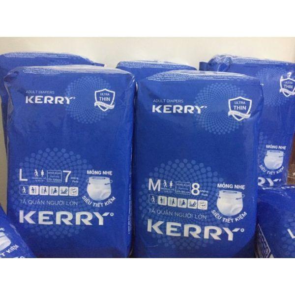 Tã quần người lớn Kerry size M 8 miếng/ 1 gói,L 7 miếng/gói