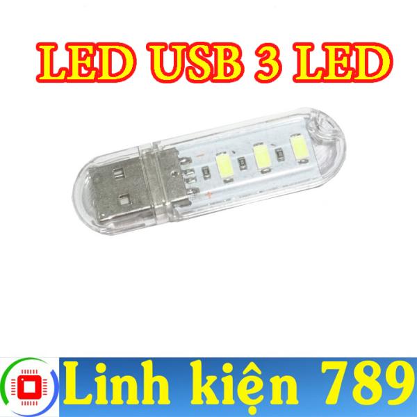 Bảng giá Đèn LED USB 3 LED sáng trắng ( bộ 2 cái )- Linh Kiện 789 Phong Vũ