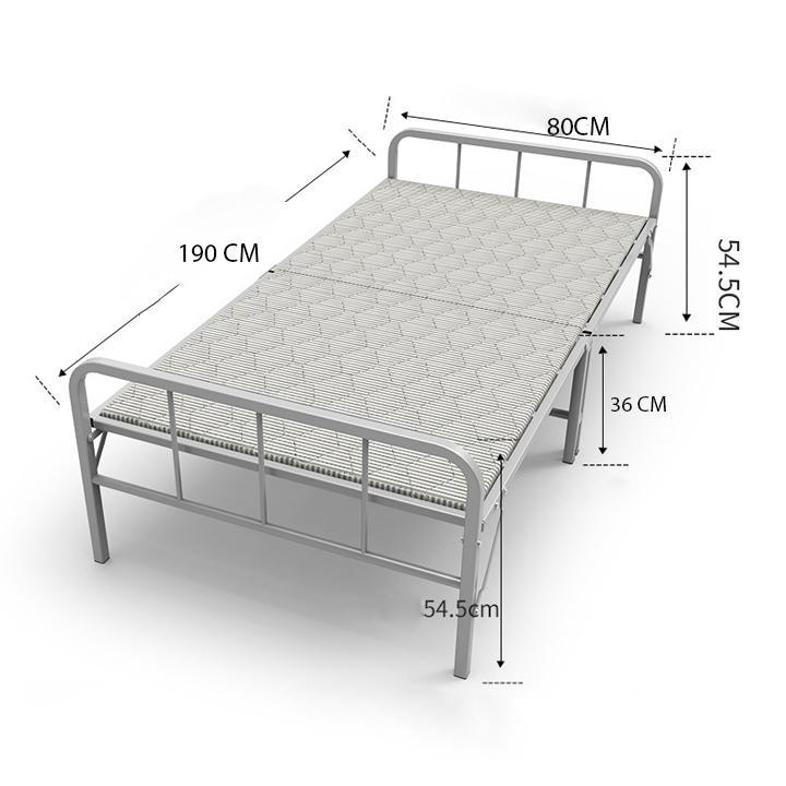Giường Gấp Đa Năng có lan can, giường văn phòng gấp gọn, mặt giường 3 lớp, khung thép tĩnh điện