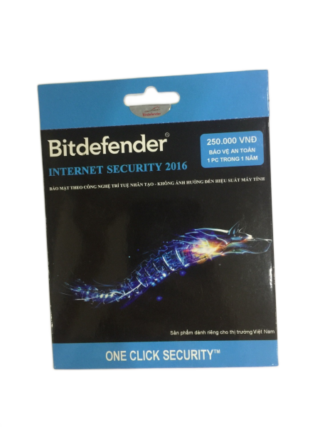 Bảng giá Phần mềm diệt virus Bitdefender Internet Security (1 PC/1 năm) Phong Vũ
