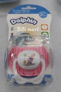 Núm ty ngậm hoặc núm ti giả Dolphin cao cấp cho bé 3 giao đoạn, mẫu giao ngẫu nhiên màu. thumbnail