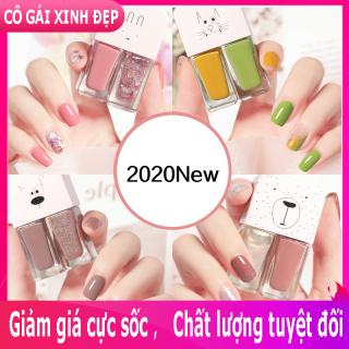 Bộ sơn móng tay SET 2 màu xinh xắn, không thấm nước, lâu trôi, phong cách Hàn Quốc thumbnail