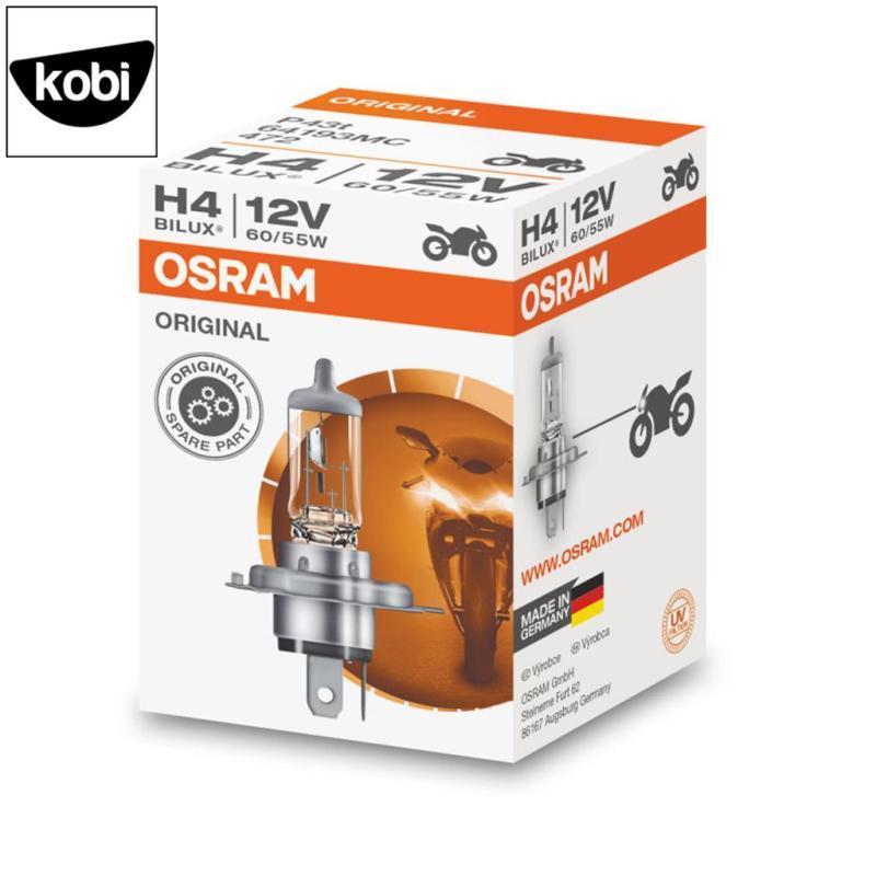 Bóng đèn osram H4 12V 60/55W dùng cho pha cos ô tô và xe máy, bền bỉ, ánh sáng chuẩn, siêu tiết kiệm