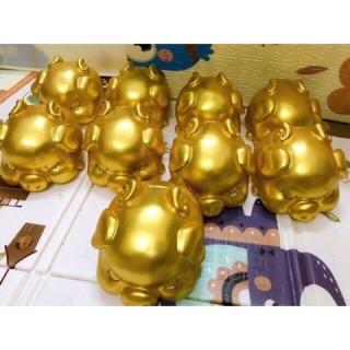 Heo Đất Tiết Kiệm HÀNG ĐẸP Heo Đất Thiên Thần Vàng Gold Sang Chảnh. thumbnail