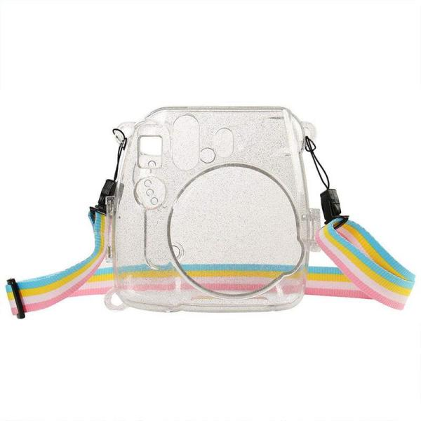 Giá Camera Bag Shining Transparent Plastic Cover Protect Case For Fujifilm Fuji Instax Mini 9 8 8+ Instant With Strap