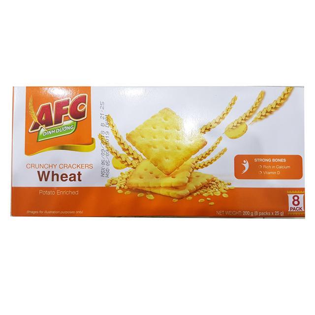 Bánh quy mặn vị lúa mì AFC 200g (8 gói*25g)