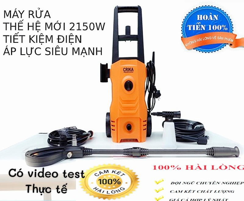 máy rửa xe - máy rửa xe áp lực cao - CÓ VIDEO - Máy rửa xe mini - Máy rửa xe gia đình- 2150W - cảm ứng từ - lõi đồng ( bảo hành 3 năm 1 đổi 1 - máy rửa xe máy