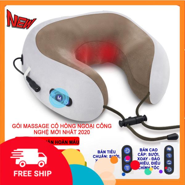 Gối massage cổ chữ U cao cấp đa năng, dòng máy mát xa cổ tiện dụng, có thể làm máy massage cổ, gối ngủ văn phòng kiêm matxa cổ vai gáy, 2 phiên bản thông minh hiện đại bạn cực chạy hiện nay nhập khẩu