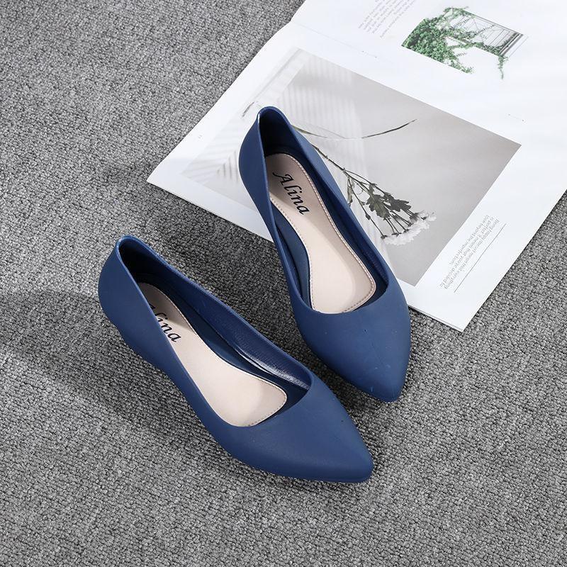 [HCM]Giày búp bê giày công sở nhựa dẻo đi mưa chống nước  chống trơn trượt size 36 đến 40 (form nhỏ đặt tăng 1 size)