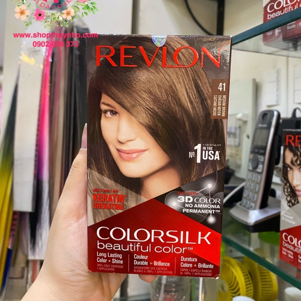 Thuốc nhuộm tóc Revlon ColorSilk số 41 - Nâu vừa