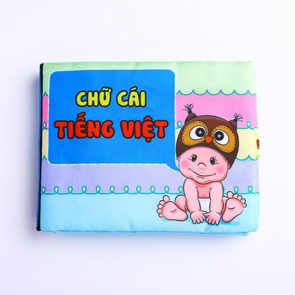 Mua Sách vải Pipo kích thích trí não cho bé : Chữ cái Tiếng Việt